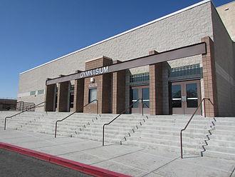Bonanza High School - The entrance to the school's gymnasium.