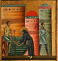 Bonaventura Berlinghieri, San Francesco e storie della sua vita, 1235, 09 miracolo dello zoppo bartolomeo da narni.jpg
