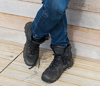 Boots of a man