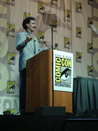 Borat - Sacha Baron Cohen as Borat at the 2006 Comic Con, promoting the film