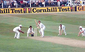 English: Botham batting At Trent Bridge for En...