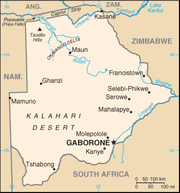 map botswana