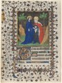 Boucicaut Master - Leaves from a Book of Hours- The Visitation and Christ in Judgment - 1953.366 - Cleveland Museum of Art.tif