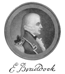 General Edward Braddock (note: the accuracy of this portrait has been widely challenged; no image of Braddock prior to his death is known to exist)