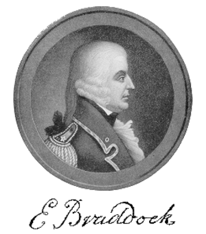 Edward Braddock - General Edward Braddock (note: the accuracy of this portrait has been widely challenged; no image of Braddock prior to his death is known to exist)