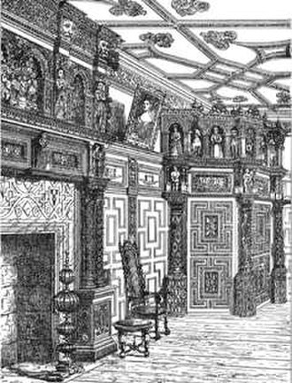 "Bradfield House - The Parlour or ""Spanish Room"", Bradfield House, Uffculme, Devon. Showing inner porch"