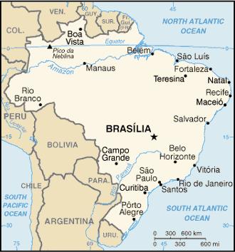 Brazil map en 2004