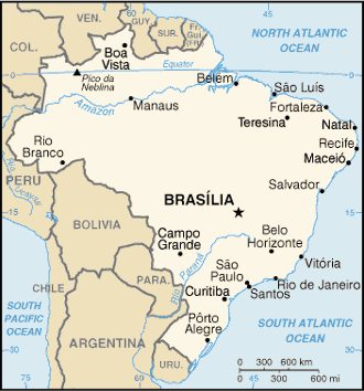 Brasile - Mappa