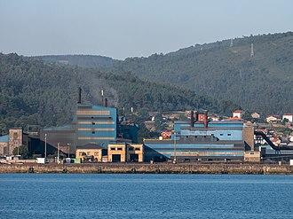 Ferromanganese - Ferromanganese plant in Brens (Cee), Spain