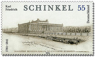 Karl Friedrich Schinkel - A stamp with Schinkel's Altes Museum