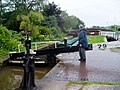 Bringing up a canal boat at Stone - geograph.org.uk - 962848.jpg