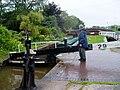 Bringing up a canal boat at Stone - geograph.org.uk - 962848.jpg