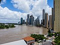 Brisbane River Town Reach in flood from Story Bridge Fortitude Valley P1090886.jpg