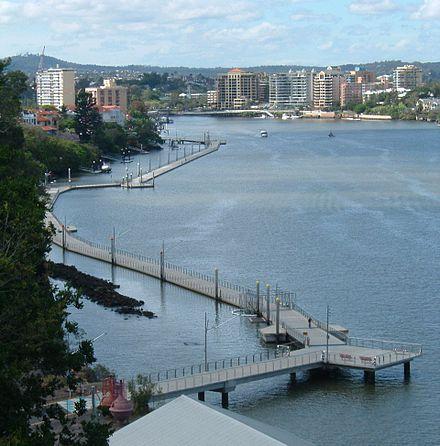 The Brisbane Riverwalk at New Farm Brisbane River Walk.JPG