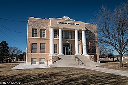 The Briscoe County Courthouse in Silverton