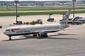 """British Airways Boeing 767-336-ER G-BZHB """"Delftblue Daybreak"""" tail (24302246929).jpg"""