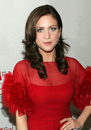 Brittany Snow backstage at The Heart Truth's R...