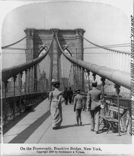 File:Brooklyn Bridge New York City 1899 Pedestrian Crossing.jpg