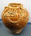 Brown glazed jar with four lugs and dragon design, salvaged from the shipwreck of the Nan'ao No. 1, Nan'ao, Shantou - Hong Kong Museum of History - DSC00881.JPG