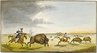 Peter Rindisbacher - Image: Buffalo Hunting in the Summer 1822