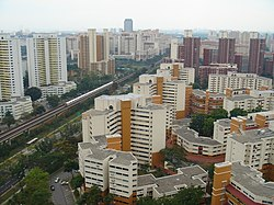 Large scale new towns are characteristic of HDB projects.