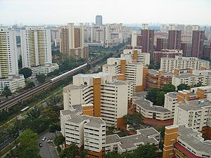 Top view of Bukit Batok, Singapore.
