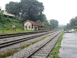 Bukit Timah railway station - The Bukit Timah Railway Station when it was in operation, with the second version of the station building in centre. Together with Tanjong Pagar railway station, it closed on 1 July 2011.