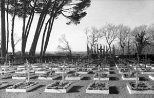 2nd Parachute Division (Germany) - Italy - cemetery of the 2. Fallschirmjäger-Division