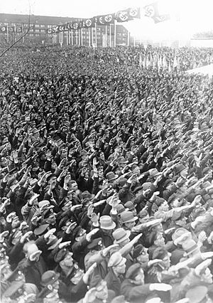 A mass rally on Tempelhof field, 1 May 1935