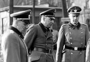 Wilhelm Fuchs - Wilhelm Fuchs (left) with Kurt Daluege and Otto Winkelmann (1940)