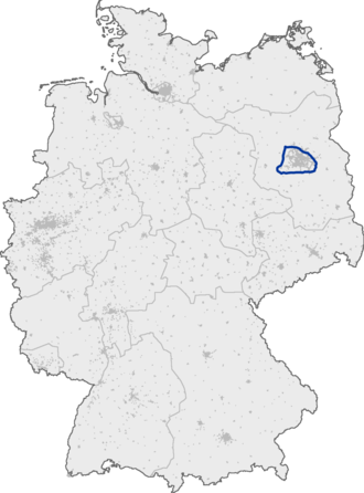Bundesautobahn 10 - Image: Bundesautobahn 10 map