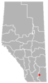 Burdett, Alberta Location.png