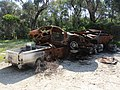 Burned out cars at Lake Cooloongup, September 2019.jpg