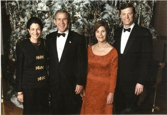 Olympia Snowe - Snowe and her husband, former Maine Gov. John McKernan, with President George W. Bush and Laura Bush at a holiday reception at the White House