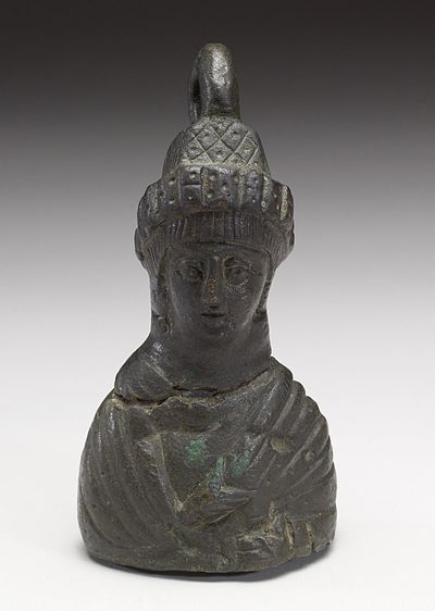 Bronze steelyard weights were often in the shape of a Byzantine empress[17]