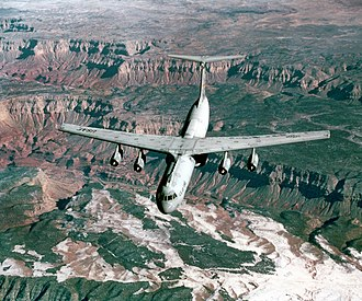 729th Airlift Squadron - Squadron C-141B Starlifter over the Grand Canyon in 1998
