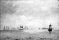C.F. Sørensen - Sailing Ships in Misty Weather - KMS6538 - Statens Museum for Kunst.jpg