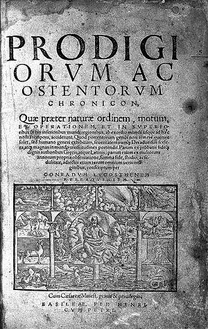 C. Lycosthenes' Prodigiorum ac ostentorum Chronicon Wellcome L0005355.jpg