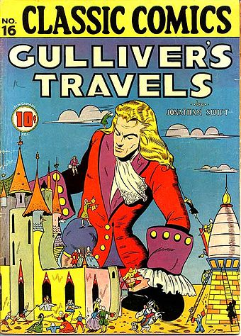 Comic book cover by Lilian Chesney CC No 16 Gullivers Travels.jpg