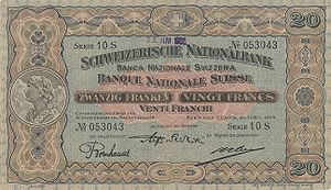 Banknotes of the Swiss franc