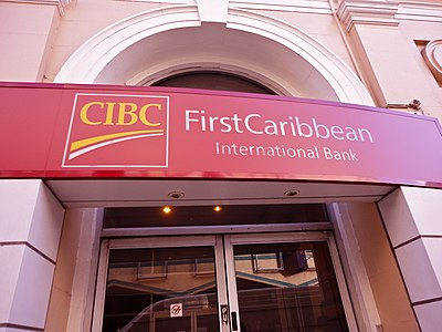 CIBC FirstCaribbean branch on Broad Street, Bridgetown, Barbados CIBC FirstCaribbean International Bank in Bridgetown, St. Michael, Barbados (2011).JPG