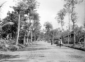 Great Post Road - Part of the Great Post Road in Kampung Cibabat, Cimahi City, West Java during colonial period
