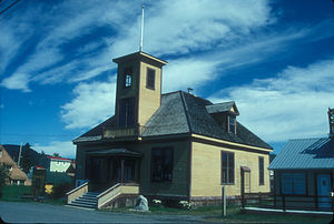 Atlin, British Columbia - Atlin Courthouse, built 1900, is now an art gallery