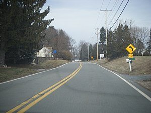 County Route 514 (New Jersey) - CR 514 eastbound in Hunterdon County