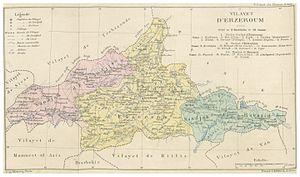 Erzurum Vilayet - Image: CUINET(1890) 1.166 Erzurum Vilayet