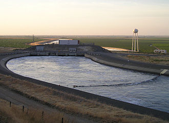 California State Water Project - Dos Amigos Pumping Plant on the California Aqueduct