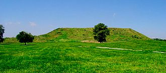 Monks Mound - Monks Mound from the side showing the 2 terraces.