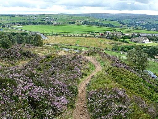 Calderdale Way Norland Moor Geograph-3119541-by-Humphrey-Bolton