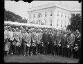 Calvin Coolidge and group outside White House, Washington, D.C. LCCN2016888490.tif