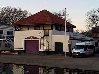 St Catharine's College Boat Club (Cambridge) - Image: Cambridge boathouses St Catharine's cropped